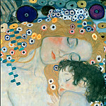 Gustav Klimt - The Three Ages of Woman (fragment)