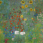 Garden With Sunflowers, Gustav Klimt