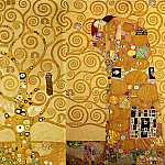 Mural for the dining room of the Stoclet Palais: Expectation – Tree of life – Fulfilment, Gustav Klimt