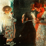 Schubert at the Piano, Gustav Klimt