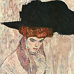 Gustav Klimt - Black Feather Hat
