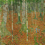 Gustav Klimt - The Birch Wood