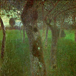 Orchard in the Evening, Gustav Klimt