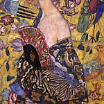 Lady with Fan, Gustav Klimt