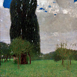 The Great Poplar I, Gustav Klimt