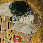 Gustav Klimt - The Kiss (fragment)