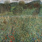Gustav Klimt - Orchard or Field of flowers