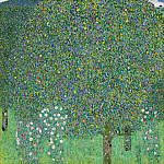 Rosebushes under the Trees, Gustav Klimt