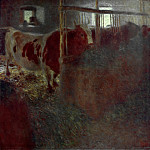 Gustav Klimt - Cows in the stable