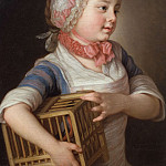 Ernst Josephson - Girl with Bullfinch in a Cage