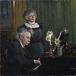 Edvard Grieg accompanying his Wife Nina
