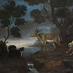 Bengalese Deer Attacked by Pugs [Attributed]