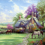 Thomas Kinkade - RArt SWD TK A Perfect Summer Day