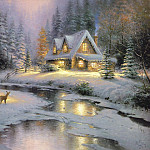 Thomas Kinkade - Deer Creek Cottage (Abraxsis)