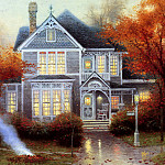 Thomas Kinkade - Amber Afternoon