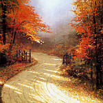Thomas Kinkade - Autumn Lane