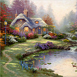 Thomas Kinkade - RArt SWD TK Everetts Cottage