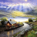 Thomas Kinkade - Emerald Isle Cottage