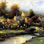 Thomas Kinkade - Lamplight Village