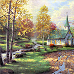 Thomas Kinkade - RArt SWD TK The Aspen Chapel