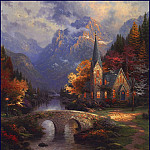 Thomas Kinkade - lrsKincadeThomas-MountainChapel