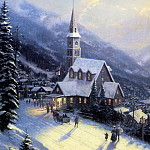 Thomas Kinkade - Moonlit Village