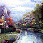 Thomas Kinkade - Lamplight Brook