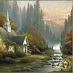 Thomas Kinkade - Forest Chapel