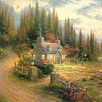 Thomas Kinkade - Pine Cove Cottage (Abraxsis)