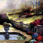 Thomas Kinkade - Gardens Beyond Autumn Gate