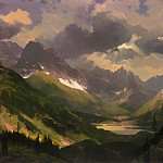 Thomas Kinkade - Passing Storm-Northern Rockies