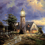 Thomas Kinkade - A Light in the Storm