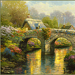 Thomas Kinkade - BlossomBridge
