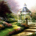 Thomas Kinkade - Hidden Gazebo