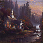 Thomas Kinkade - lrsKincadeThomas-MountainChapel2