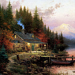 Thomas Kinkade - End of a Perfect Day
