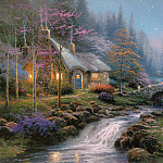 Thomas Kinkade - Twilight Cottage (Abraxsis)