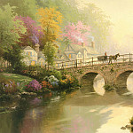 Thomas Kinkade - Hometown Bridge (Abraxsis)