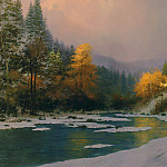 Thomas Kinkade - Autumn Snow