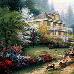 Thomas Kinkade - Sunday at Apple Hill