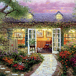 Thomas Kinkade - Studio in the Garden