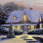 Thomas Kinkade - Christmas Eve 1991