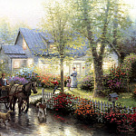 Thomas Kinkade - Sunday Outing