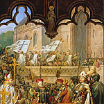 Karl Friedrich Schinkel - Entrance of Grand Master Siegfried von Feuchtwangen with Knights of the Teutonic Order to Malbork Castle