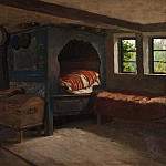 Anders Kallenberg - Interior of a Farmer's Cottage in Skåne