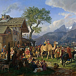 Karl Eduard Biermann - Animal Tamer Outside the Inn