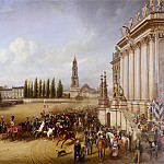 August Kopisch - Military Parade in Potsdam in 1817