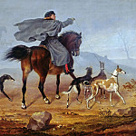 Johann Anton Ramboux - Ride to the hunting