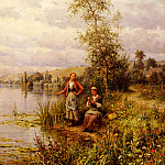 Knight_Louis_Aston_Country_Women_After_Fishing_On_A_Summer_Afternoon, Louis Aston Knight