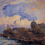 Albert-Charles Lebourg - Paris the Seine at Pont des Arts and the Institute